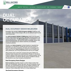 Best Dual Occupancy Designs in Melbourne