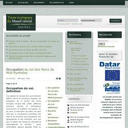Occupation du sol des Parcs de Midi-Pyrénées - Trame écologique du Massif central