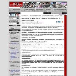 25/07 Occupation du Pole Emploi à Ambert pour le retrait de la convention Unedic