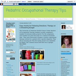 Pediatric Occupational Therapy Tips: Easy Activity for Following Directions: Therapy on a Shoestring Budget