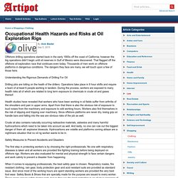 Occupational Health Hazards and Risks at Oil Exploration Rigs