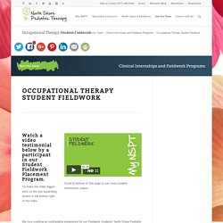 Occupational Therapy Student Fieldwork - North Shore Pediatric Therapy