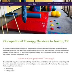 Occupational Therapy in Austin, TX