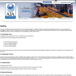 ISO Health And Safety Management System – Occupational Health And Safety