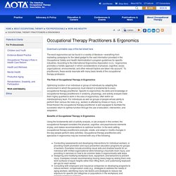 Occupational Therapy Practitioners & Ergonomics