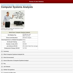 Computer Systems Analysts