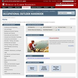 Occupational Outlook Handbook, 2010-11 Edition