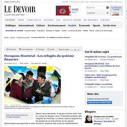 Occupons Montréal - Les réfugiés du système financier