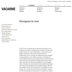 Vacarme - occupons le vote