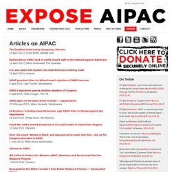 Articles on AIPAC
