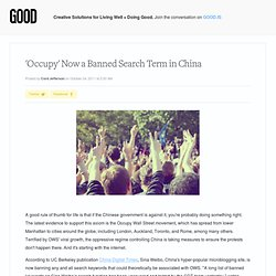 'Occupy' Now a Banned Search Term in China - Technology