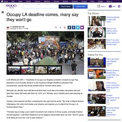Occupy LA deadline comes, many say they won't go