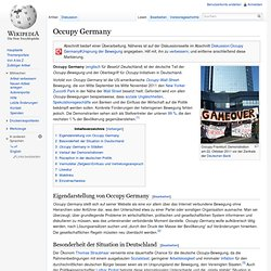 Occupy Germany