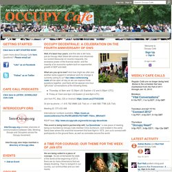 Occupy Cafe - An open space for global conversation