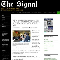 Occupy TCNJ group small but ready to 'kick some ass' | The Signal