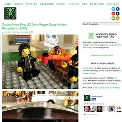 Occupy News Bins, UC Davis Pepper Spray Incident Recreated in LEGOs