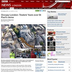 Occupy London: Traders' fears over St Paul's demo
