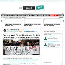 Occupy Wall Street Monitored By U.S. Conference Of Mayors, Emails Show
