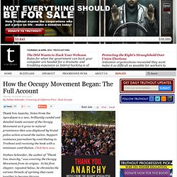 How the Occupy Movement Began: The Full Account
