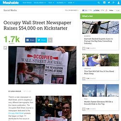 OWS Newspaper Raises $54,000 on Kickstarter