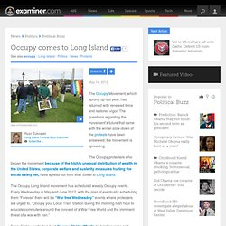 Occupy comes to Long Island - Long Island Political Buzz