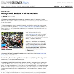 Occupy Wall Street's Media Problems | The New York Observer