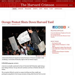 Occupy Protest Shuts Down Harvard Yard