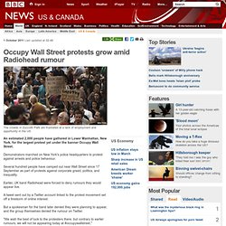 Occupy Wall Street protests grow amid Radiohead rumour