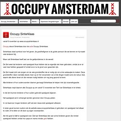 Occupy Sinterklaas