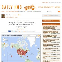 Occupy Wall Street: List and map of over 200 U.S. solidarity events and Facebook pages
