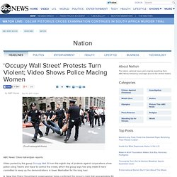 'Occupy Wall Street' Protests Turn Violent; Video Shows Police Macing Women