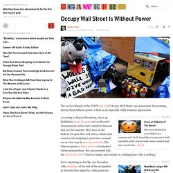 Occupy Wall Street Is Without Power