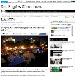 Occupy L.A.: State voters agree with protest issues, poll says