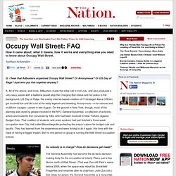 Occupy Wall Street: FAQ