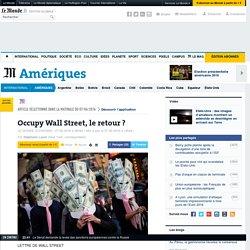 Occupy Wall Street, le retour?