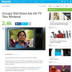 Occupy Wall Street Ads Hit TV This Weekend