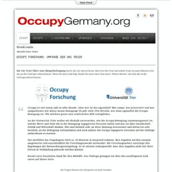 OccupyGermany.org - Start
