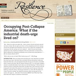 Occupying Post-Collapse America: What if the industrial death-urge lived on?