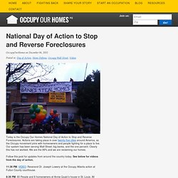 National Day of Action to Stop and Reverse Foreclosures