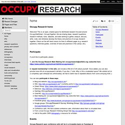 occupyresearch - home