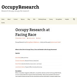 Occupy Research |