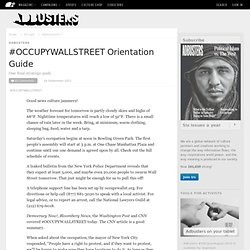 #OCCUPYWALLSTREET Orientation Guide