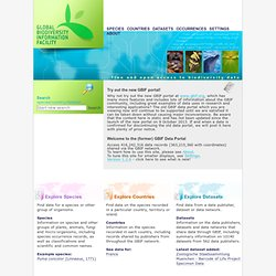 GBIF : Global Biodiversity Information Facility