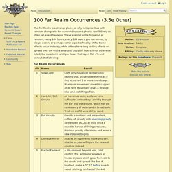 100 Far Realm Occurrences (3.5e Other) - Dungeons and Dragons Wiki