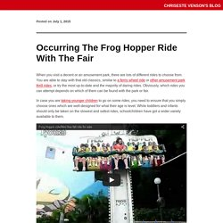 Occurring The Frog Hopper Ride With The Fair