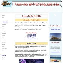 Ocean Facts for Kids: Atlantic Ocean, Pacific Ocean and Indian Ocean