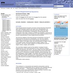 ETH - UP - Ocean Biogeochemical Dynamics
