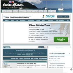 Ocean Crossers and Global Cruisers Only