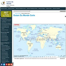Océan Du Monde Carte