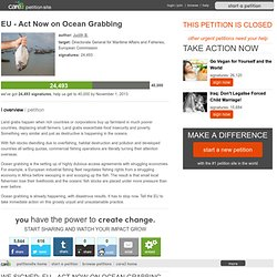 EU - Act Now on Ocean Grabbing